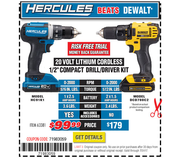 Harbor Freight Hercules Tools Review And Coupons